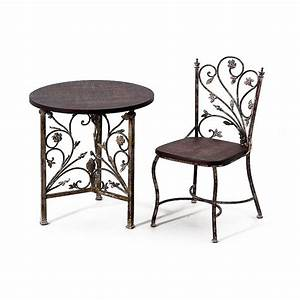 Table Bois Et Fer : table et chaise en fer forg et bois chaise id es de ~ Premium-room.com Idées de Décoration