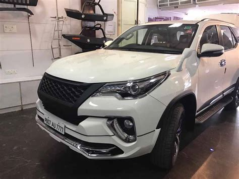 customised toyota fortuner  sporty  aggressive