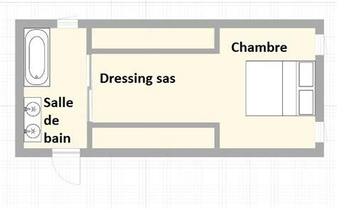 plan chambre salle de bain dressing un dressing sas univers du placard