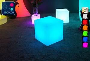 cube lumineux solaire multicolore sans fil cube led 40 With cube lumineux solaire exterieur