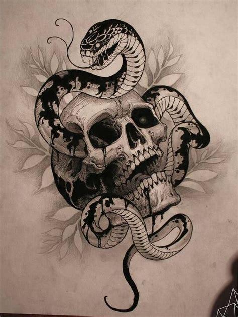 badass snake skull tattoos ideas tattoos  men