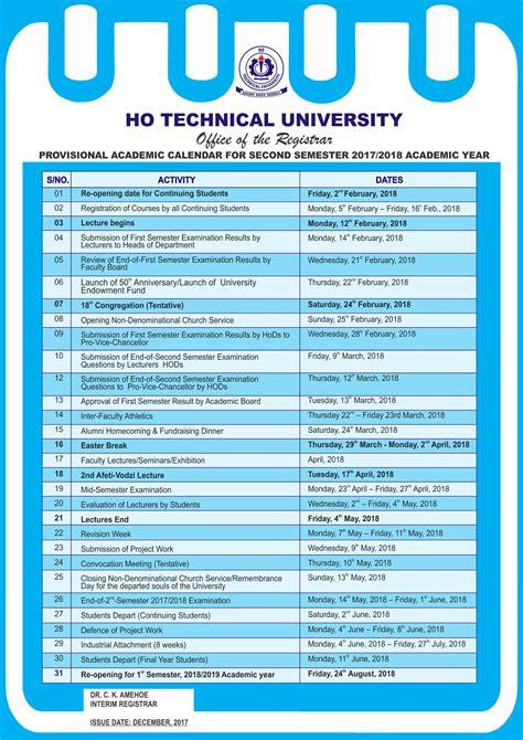 ho technical university htu semester academic