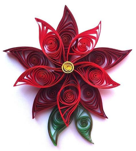 quilled poinsettia flower craftsy