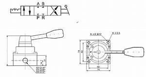 3 Position 4 Way Pneumatic Manual Directional Control Hand