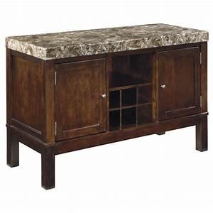 D567 60 Ashley Furniture Kraleene Dark Brown Dining Room