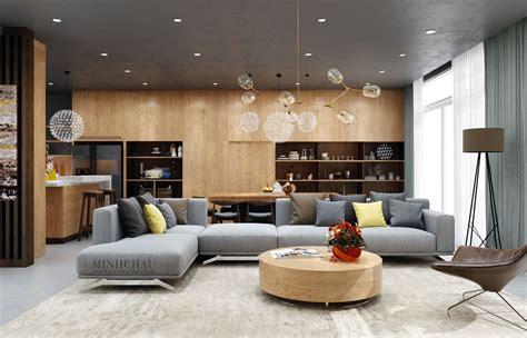 Home And Design : ხის ფაქტურა და ნაცრისფერი