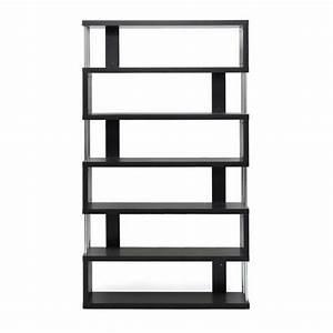Barnes Modern Bookcase in Dark Brown - FP-6D