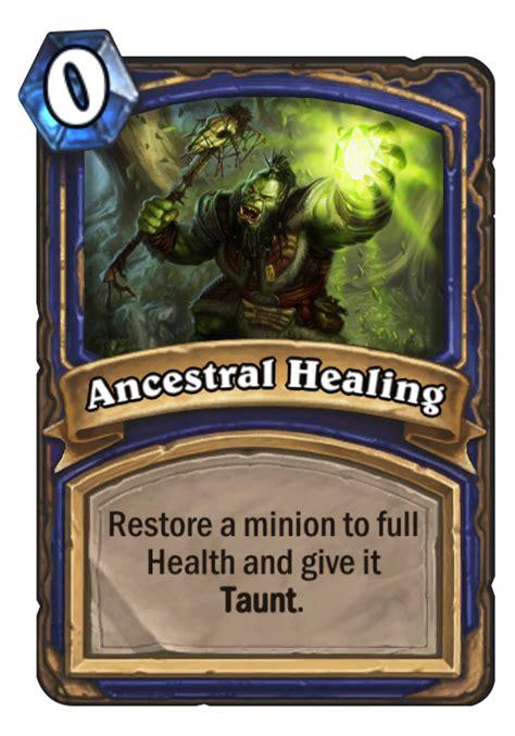 ancestral healing hearthstone card