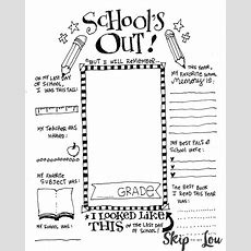 The Coolest Free Printable End Of School Coloring Page  Skip To My Lou
