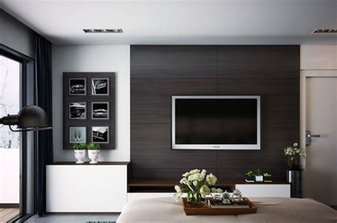 tv au mur chambre contemporaine 33 id 233 es d 233 co murale design