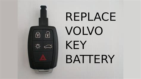change remote key fob battery  volvo