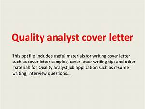 Cover Letter For Qa Manager Quality Analyst Cover Letter