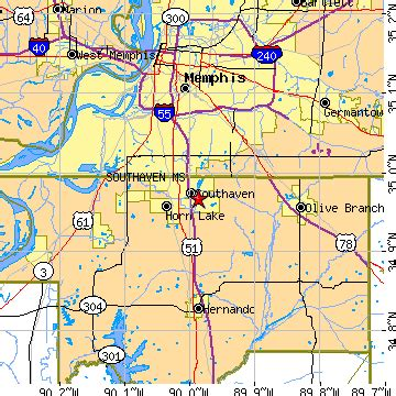southaven mississippi ms population data races