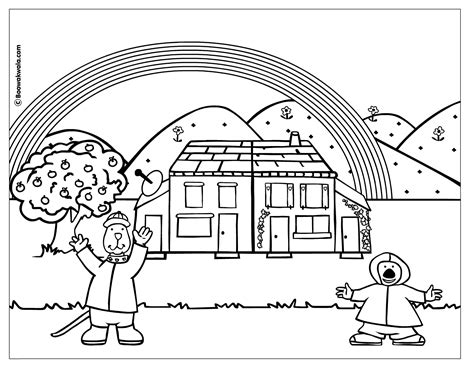 rainy day coloring pages    print