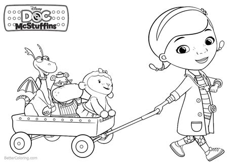 doc mcstuffin coloring pages dottie and friends from doc mcstuffins coloring pages