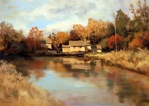 Tableau Peinture Sur Toile : tableau peinture huile maison design ~ Teatrodelosmanantiales.com Idées de Décoration