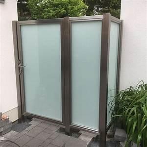 uber 1000 ideen zu sichtschutz aus glas auf pinterest With französischer balkon mit sitzgarnitur garten metall