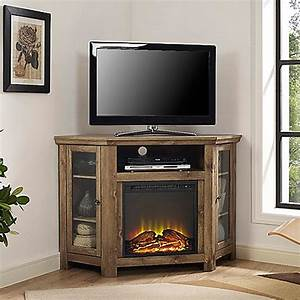 buy walker edison 48 inch corner fireplace tv stand in With barnwood corner tv stand
