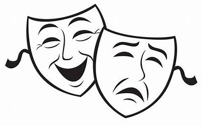 Masks Drama Printable Clipart Clip Theatre Santa