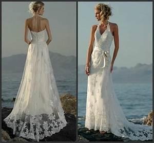 aliexpresscom buy daw3248 sexy halter beach wedding With buy beach wedding dress