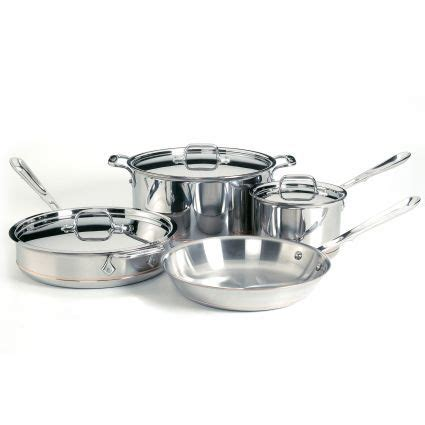 clad copper core  piece set cookware set stainless steel cookware set dishwasher safe