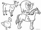 Coloring Farm Animal Printable Cool2bkids sketch template