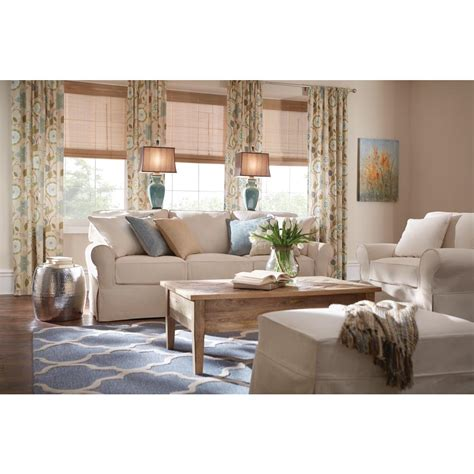 Home Decorators Collection Mayfair Linen Pearl Fabric Arm