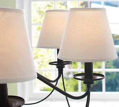 chandelier l shades pottery barn pb basic linen chandelier shade set of 3 pottery barn