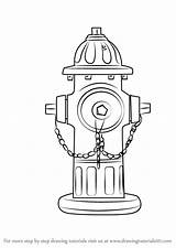Hydrant Fire Draw Drawing Step Everyday Objects Drawingtutorials101 Hydrants Firefighter Drawings Coloring Pages Clip Learn Tutorial Previous Crafts sketch template