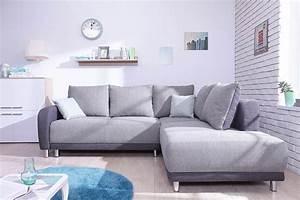 Grand Canapé Droit : minty grand angle droit bicolore canap s convertibles salon salle manger ~ Teatrodelosmanantiales.com Idées de Décoration