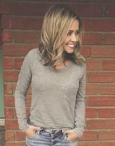 Blonde Mittellange Haare : kurz schulterlang blonde frisur hair pinterest mittellange haare frisuren feines haar ~ Frokenaadalensverden.com Haus und Dekorationen