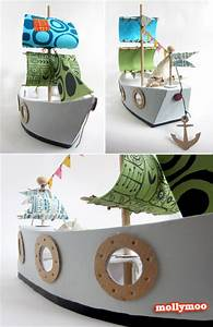 mollymoocrafts cardboard toys diy pirate ship With cardboard pirate ship template