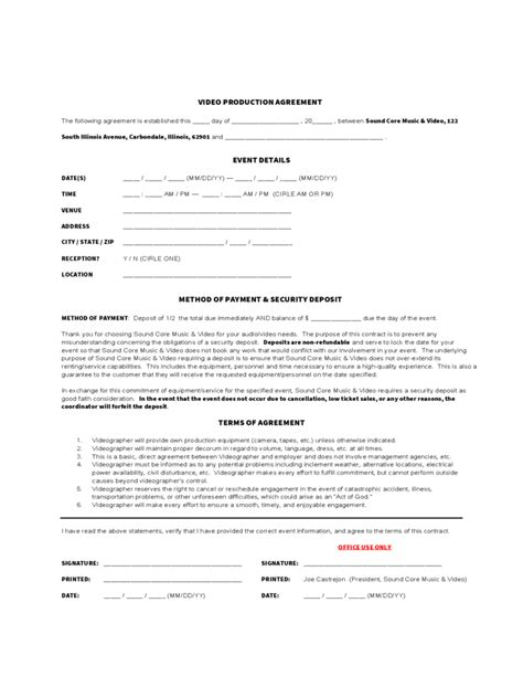 Videographer Resume Pdf by 17 Videographer Resume Template Freelance Contract