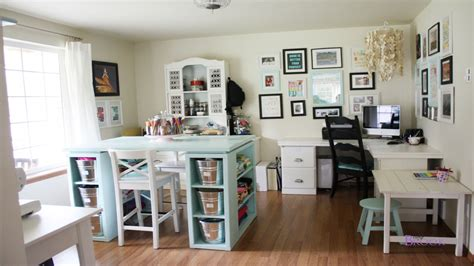 White Home Office Furniture, Sewing Craft Room Ideas Ikea