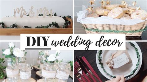 budget diy wedding decorations cake and favours uk 2018