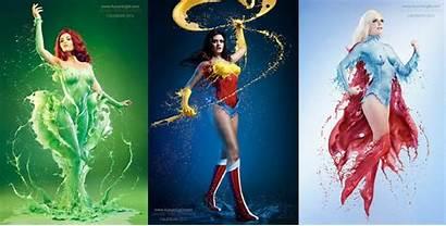 Calendar Heroes Splash Dc Marvel Villains Female