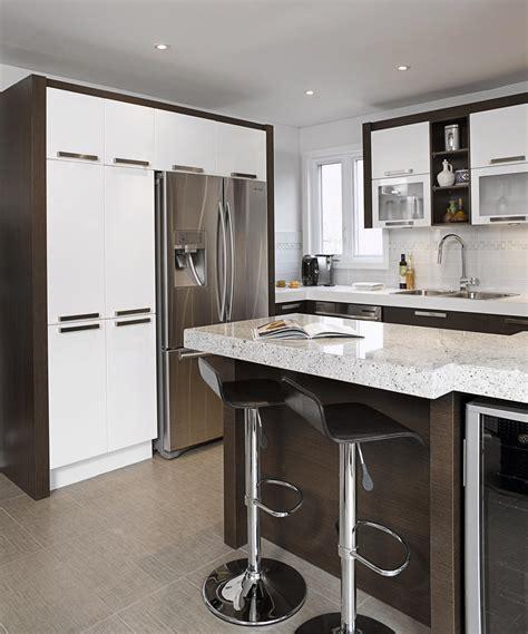 comptoir cuisine bois air glacier cuisine thermoplastique bois wenge granit