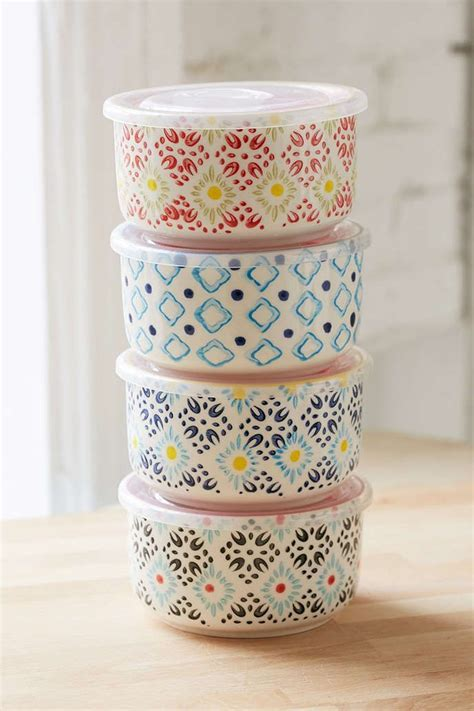 Ceramic Food Storage Bowl Set   Bowl set, Food storage and