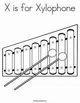 Xylophone Coloring Sheet Built California Usa sketch template