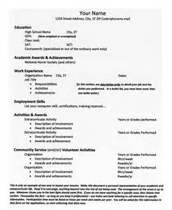 college resume exles for admission sles of college resume