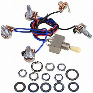 Electric Guitar Wiring Harness Kit For Lp  2t2v 3 Way