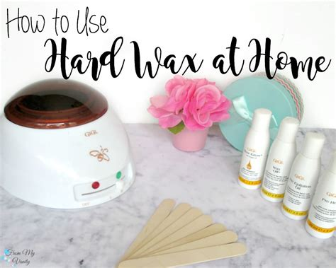 How To Use Hard Wax At Home  From My Vanity