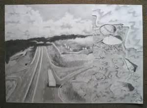 Simple Pencil Landscape Drawings