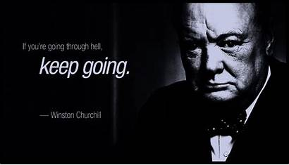 Churchill Gotham Winston Quote Wallpapers Quotes Colorized