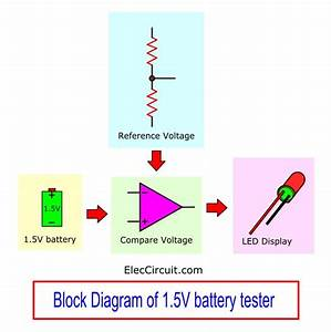 1 5v Battery Tester Circuit Using Lm324