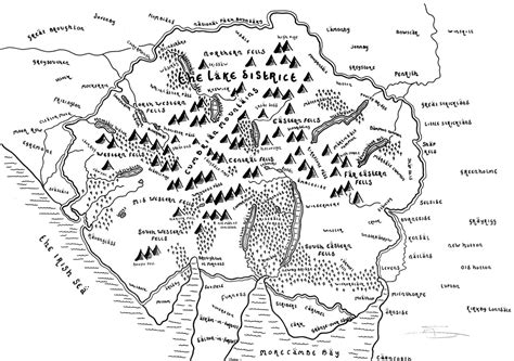 maps  uk national parks drawn   style  tolkiens