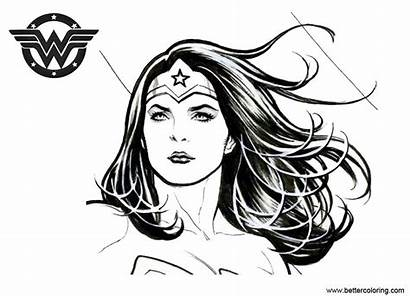 Wonder Coloring Woman Pages Inking Printable Adults