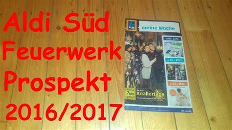 Aldi Süd Feuerwerk Prospekt 2016/2017 *hd*
