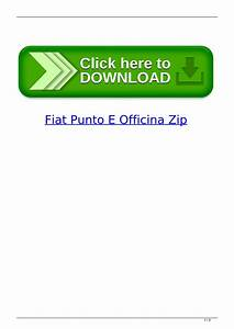 Fiat Punto E Officina Zip By Barticonse
