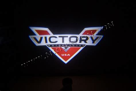 Victory Motorcycle Led Door Projector Courtesy Puddle Logo